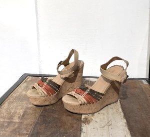 Soda Wedge Sandals multicolored