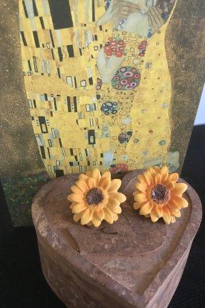 Schöne Sonnenblume Ohrringe neu