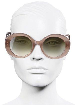 Fendi Occhiale da sole ovale color oro rosa