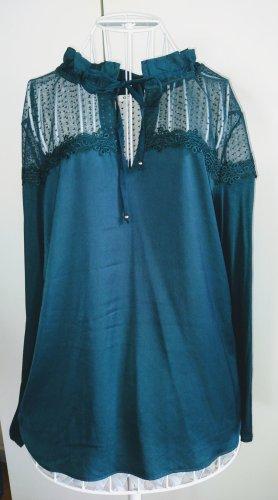 Schöne Spitzen Bluse Elegant mit Schnurr Größe 44-46
