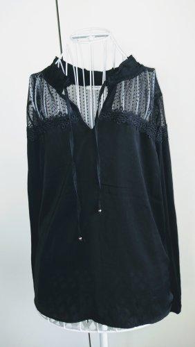 Schöne Spitzen Bluse mit Schnurr Größe 44-46