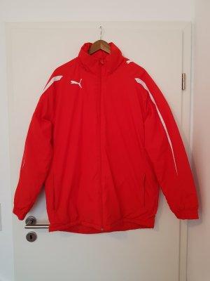 schöne sportliche Jacke mit Kapuze  von Puma in rot Gr. M