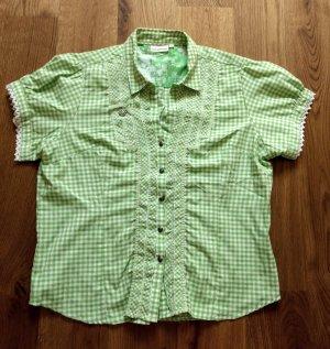 Stockerpoint Blusa tradizionale bianco-verde chiaro
