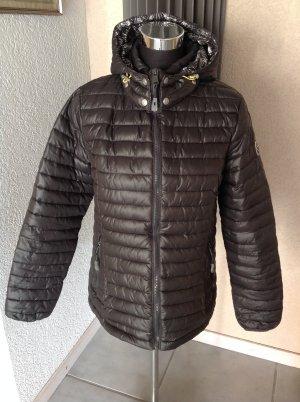 Veste matelassée taupe-noir polyester