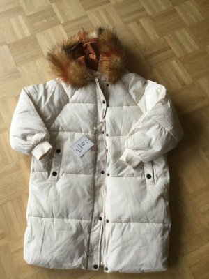 Quilted Coat natural white synthetic fibre