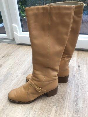 Schöne Stiefel aus Leder in Gr 38