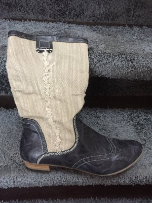 s.Oliver Western Boots pale yellow-dark blue