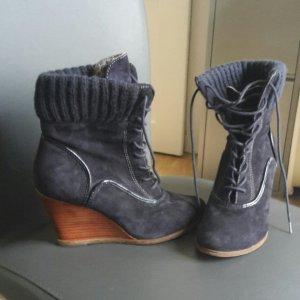 Botas con cordones azul