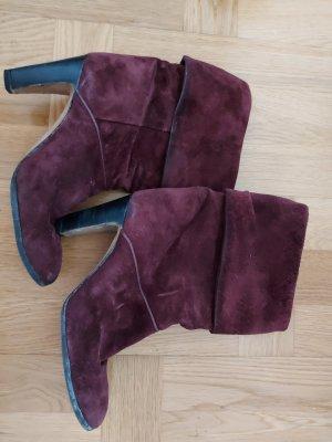 Amalfi Slip-on Booties bordeaux-purple