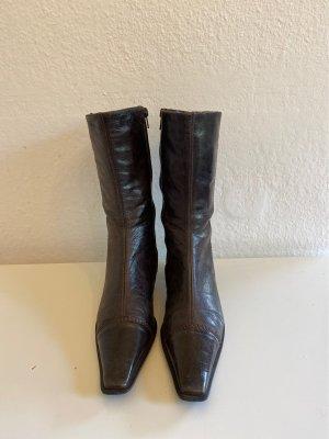 Lamica Botines estilo vaquero marrón claro Cuero