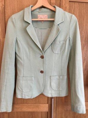 Veste chemise vert pâle-gris vert coton