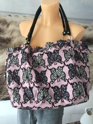 Schöne Stofftasche * mit Glitzer-Schmetterlingen * Neu und ungetragen