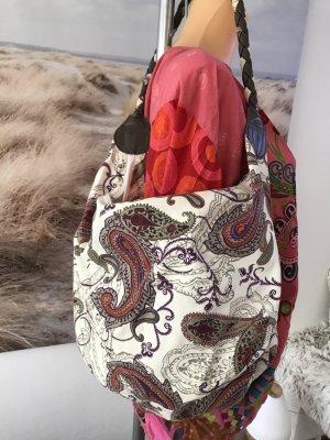 Schöne Stofftasche * Schultertasche * mit Paisleymuster * tolle Farben