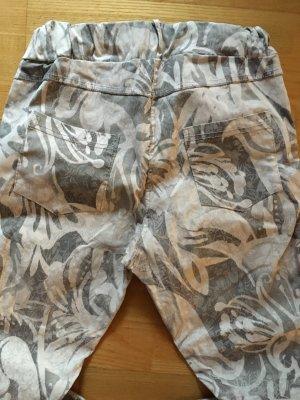 Pink Spodnie ze stretchu Wielokolorowy Bawełna