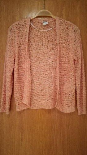 Vero Moda Cárdigan de punto grueso color rosa dorado