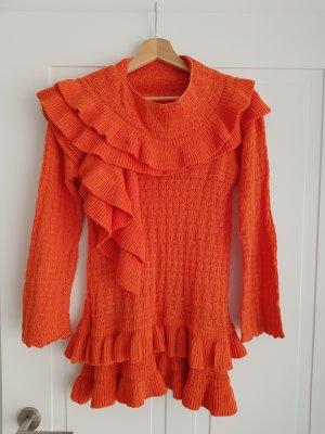 Schöne Strick Pullover mit Schall
