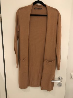 Angela Davis Veste en tricot cognac