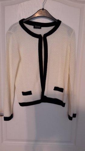 Gina Knitted Vest black-natural white polyacrylic