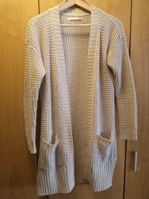 Only Veste tricotée en grosses mailles beige clair