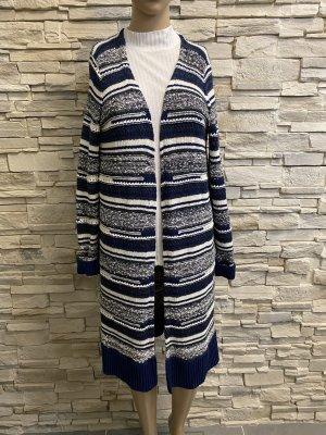 Tommy Hilfiger Cappotto a maglia bianco-blu scuro