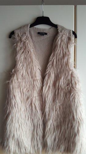 Esmara Gebreid vest licht beige Polyester