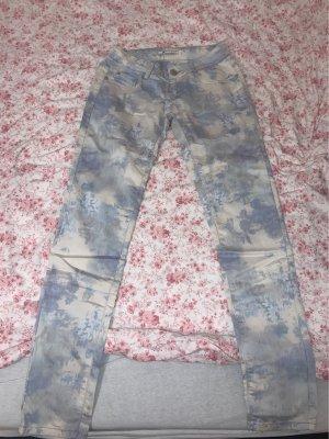 Jeans elasticizzati bianco-blu pallido