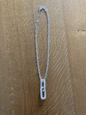 Swarovski Schakelketting zilver