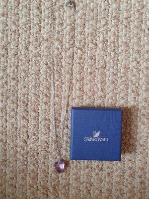 schöne Swarovski Kette Kristall Herz violett Ovp