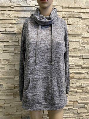 Veste sweat argenté-gris clair