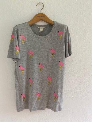 Schöne T-Shirt mit Pailletten von H & M Gr.S/34/36/38