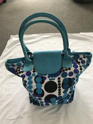 schöne Tasche in verschiedenen Blau-Tönen