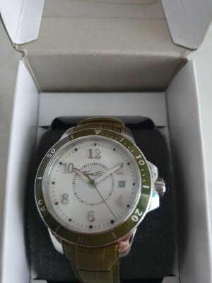 Thomas Sabo Watch With Leather Strap silver-colored-olive green