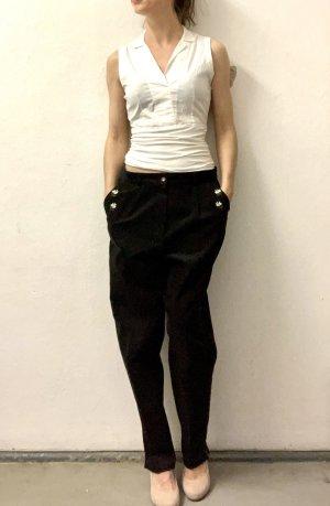 Folkloristische broek zwart-wit