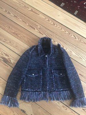 Zara Blazer en tweed bleu foncé