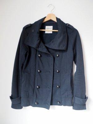 Schöne Übergangs-Jacke von Esprit für den Herbst in klassischem Dunkelblau mit doppelter Knopfreihe