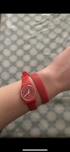 Swatch Montre automatique rouge