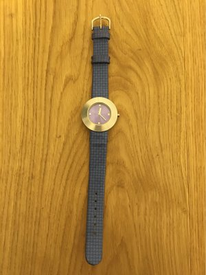 Orologio analogico blu acciaio-viola scuro