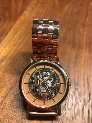 Six Watch With Metal Strap bronze-colored