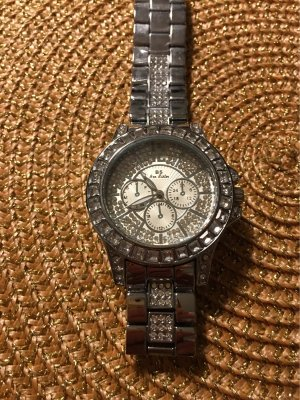 100% Fashion Watch With Metal Strap silver-colored