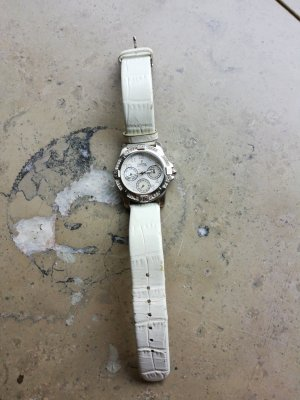 Festina Watch With Leather Strap white-silver-colored