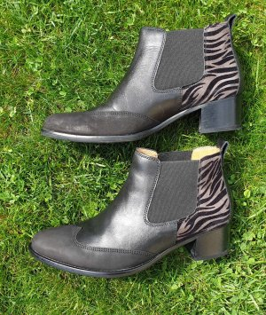 Gabor Slip-on Booties black-beige leather