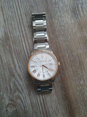 cerruti 1881 Montre avec bracelet métallique argenté-or rose