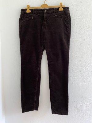 Christian Berg Jeans carotte brun foncé coton