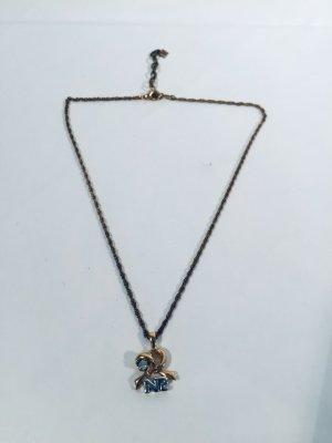 Schöne vergoldete Vintage-Halskette von Nina Ricci - Logo