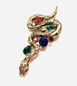 Schöne Vintage Brosche Schlange Antik Elegant Funkelt Extrem