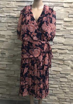 Canda Midi Dress black-pink polyester