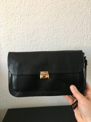 Schöne Vintage Leder Handgelenktasche,Clutch, Tasche, Echtleder schwarz, (kann man auch umarbeiten lassen zur Gürteltasche/Bauchtasche)