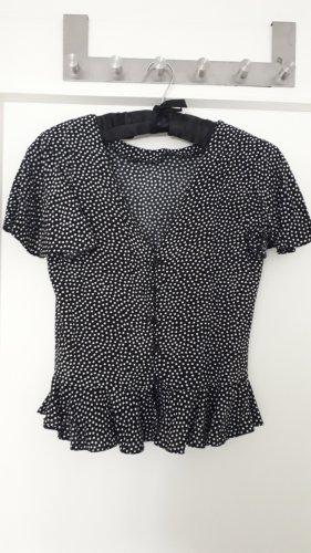 Schöne Vintage-Stil Polka Dot Bluse