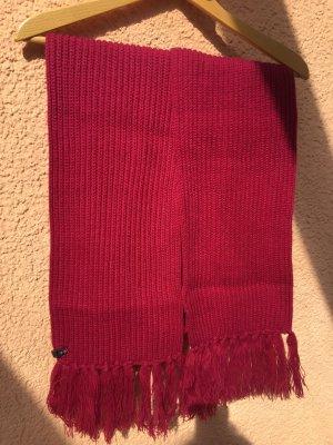 ONEILL Sciarpa lavorata a maglia rosso lampone