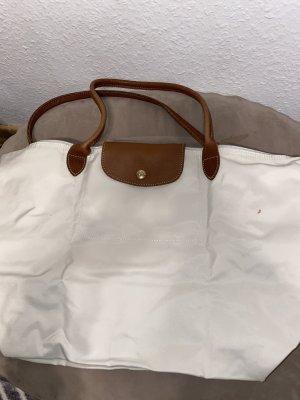 Schöne Weiß braune Tasche von Longchamp